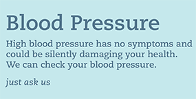 Blood pressure? High blood pressure has no symptoms and could be silently damaging your health. We can check your blood pressure. Click to get expert advice on blood pressure.