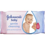 Johnsons Baby GentleCleansing Wipes 56