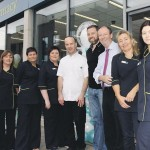 The delightful staff of Haven Pharmacy Billy, Mark, Louise, Jella, Shona, Gillian and Louise