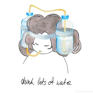 cystitis drink lots of water